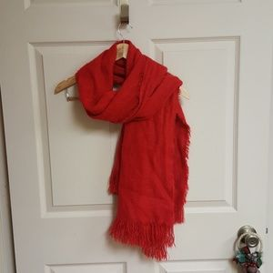 Accessories - Red fleece scarf